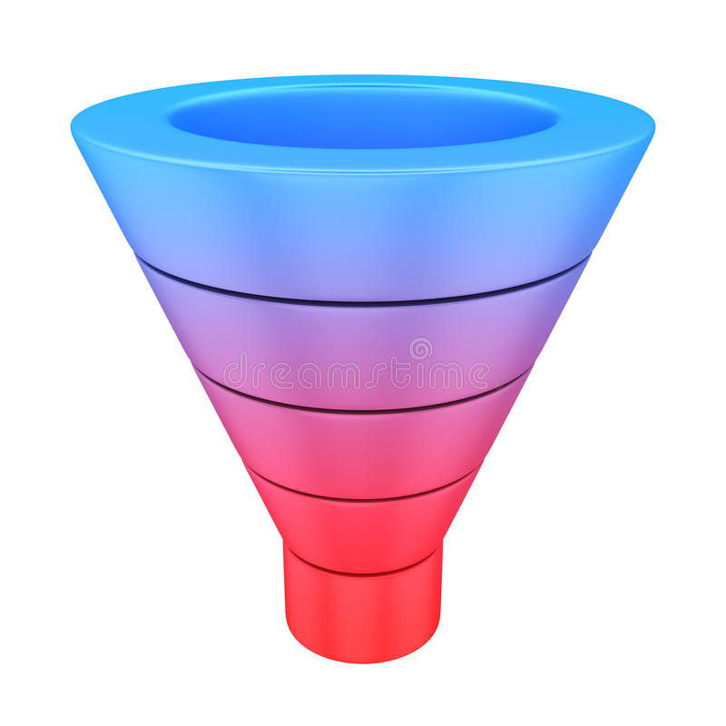 Download Purchase funnel stock illustration. Illustration of conversion - 34646699