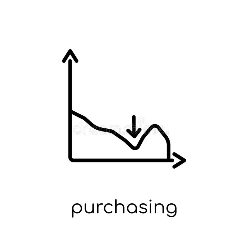 Purchasing managers ' index (pmi) icon. Trendy modern flat linear. Vector purchasing managers ' index (pmi) icon on white background from thin line business vector illustration