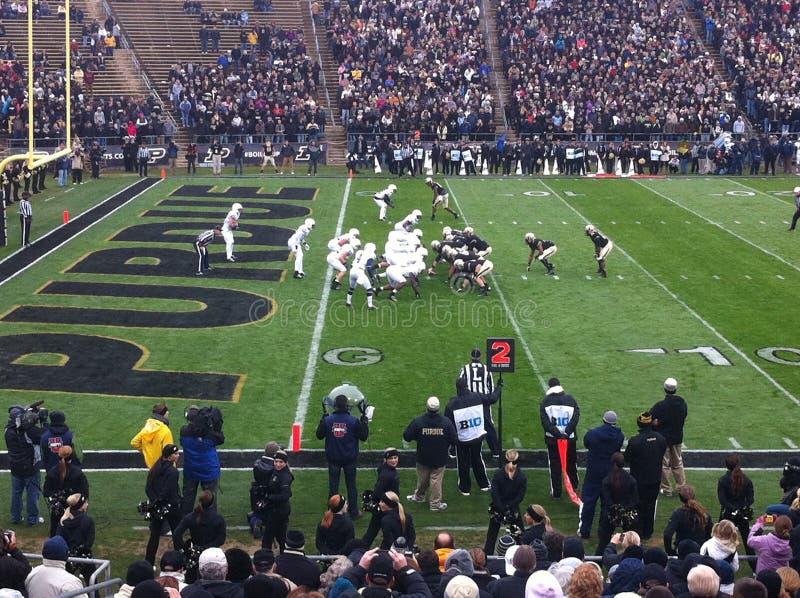 Purdue contro calcio di Penn State fotografie stock libere da diritti