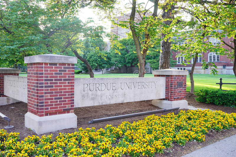 Purdue universitet royaltyfri foto