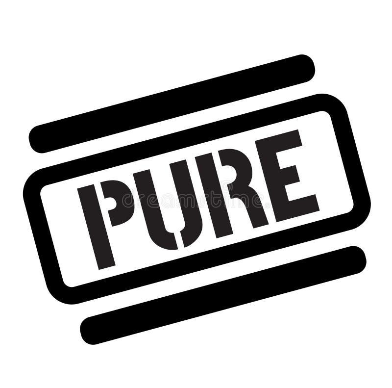 Pure black stamp. On white background stock illustration