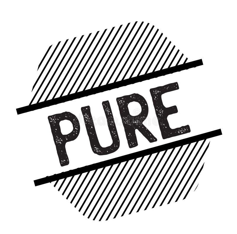 Pure black stamp. On white background. Sign, label, sticker stock illustration