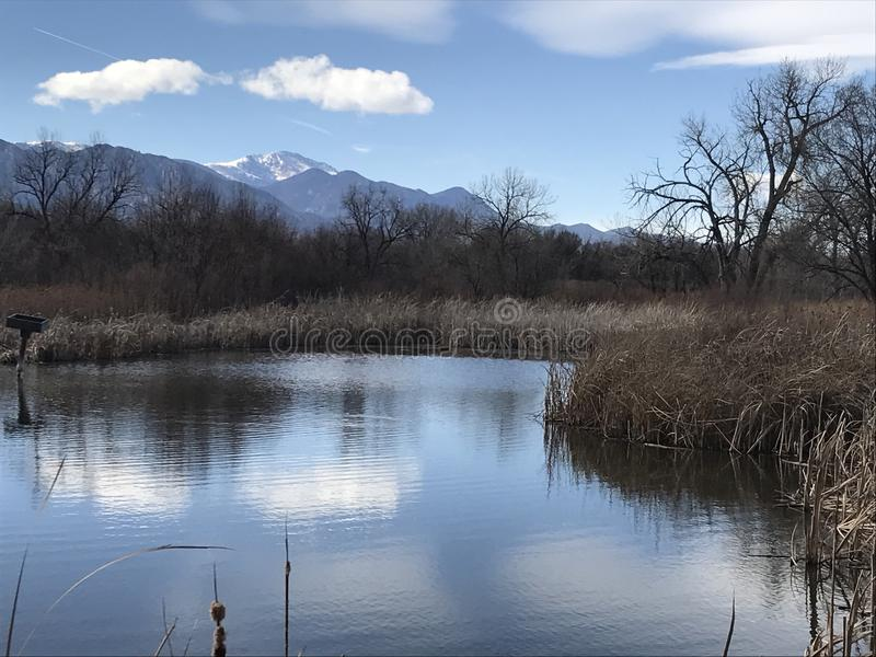 Pure Colorado Mountain Peak stock image