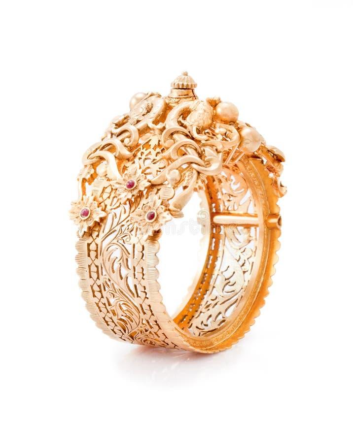Pure Gold bracelet stock photography