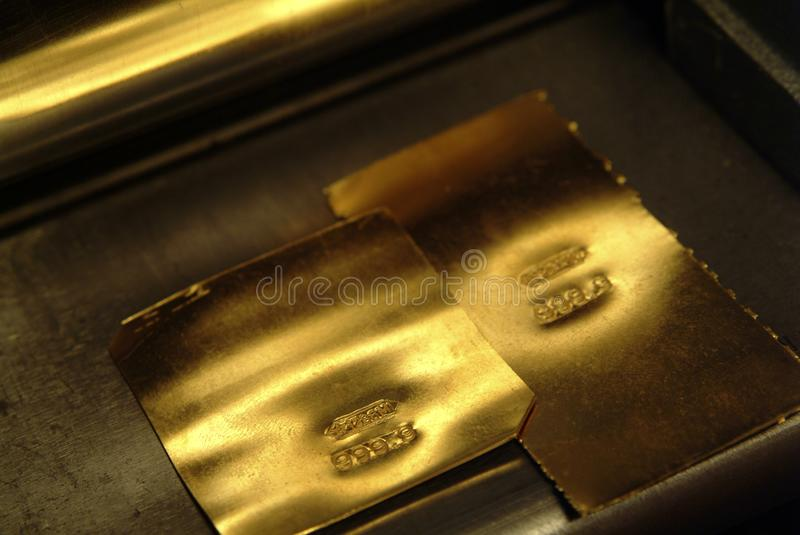 Gold foil, for crafts and for investment, royalty free stock images