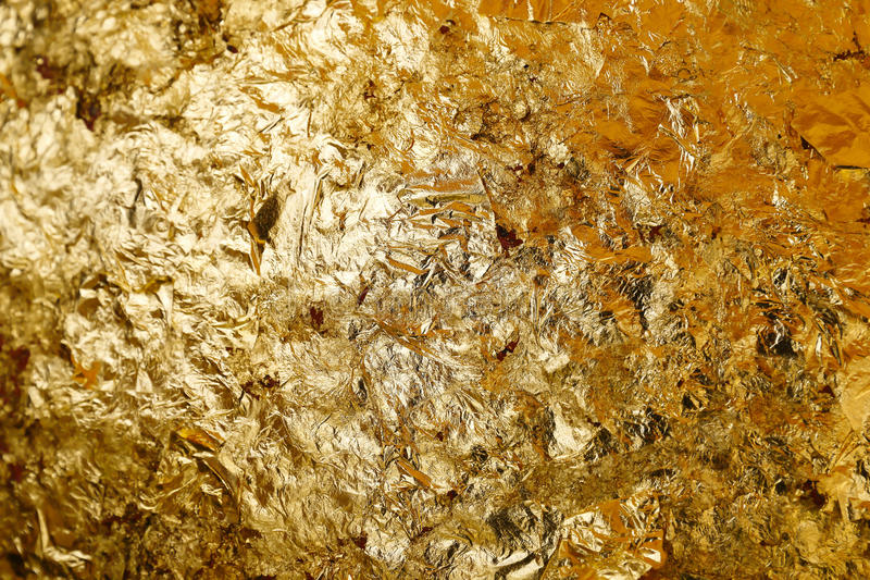 Pure gold leaf texture for pattern and background. It is pure gold leaf texture for pattern and background royalty free stock image