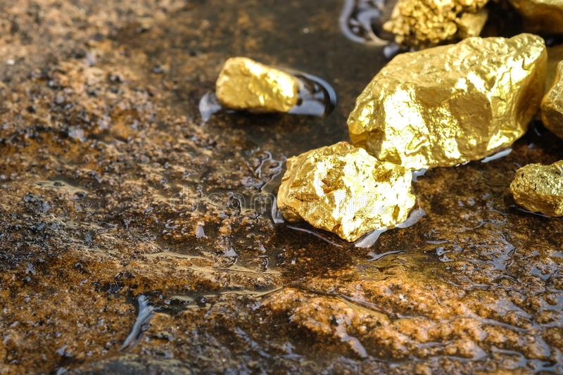 Pure Gold Ore Found In The Mine Stock Image - Image of ... - photo#15
