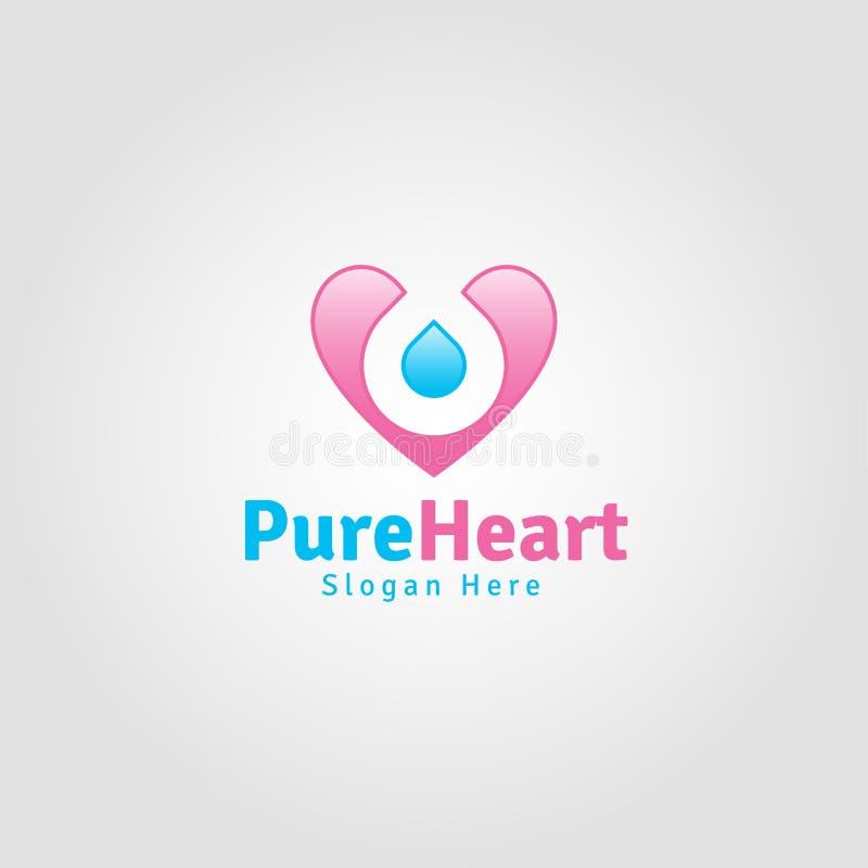 Pure Heart - Lovely Romance Logo vector illustration