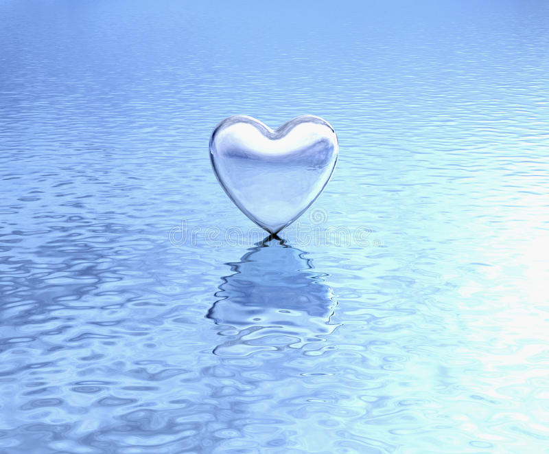 Download Pure Heart On Water Reflection Stock Photo - Image: 36012440