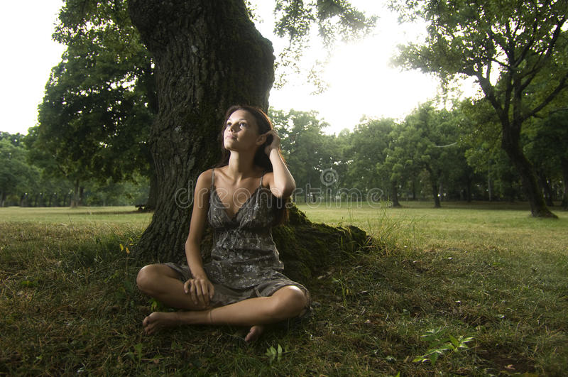 Download Pure, Natural, Beautiful Young Woman In Nature Stock Photo - Image: 12413262