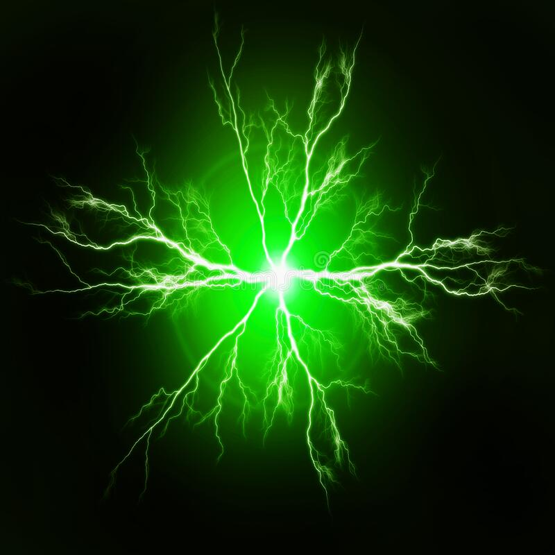 Pure Power and Electricity Green stock photos