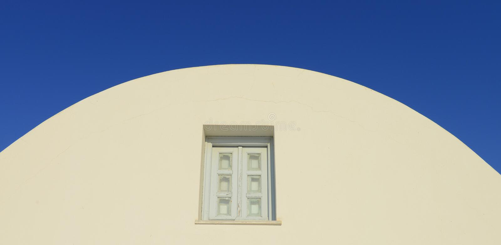 Pure Santorini white and blue - architectural detail stock images
