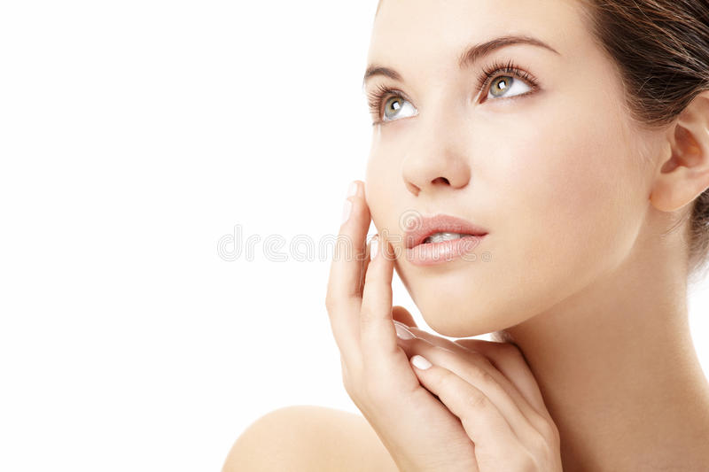 Pure skin stock images