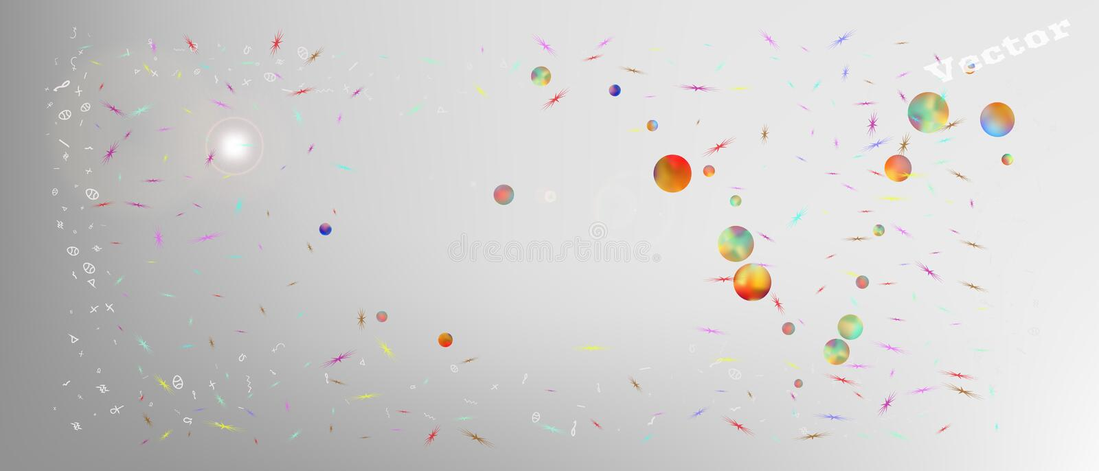 Liquid abstract ultra wide space background stock image