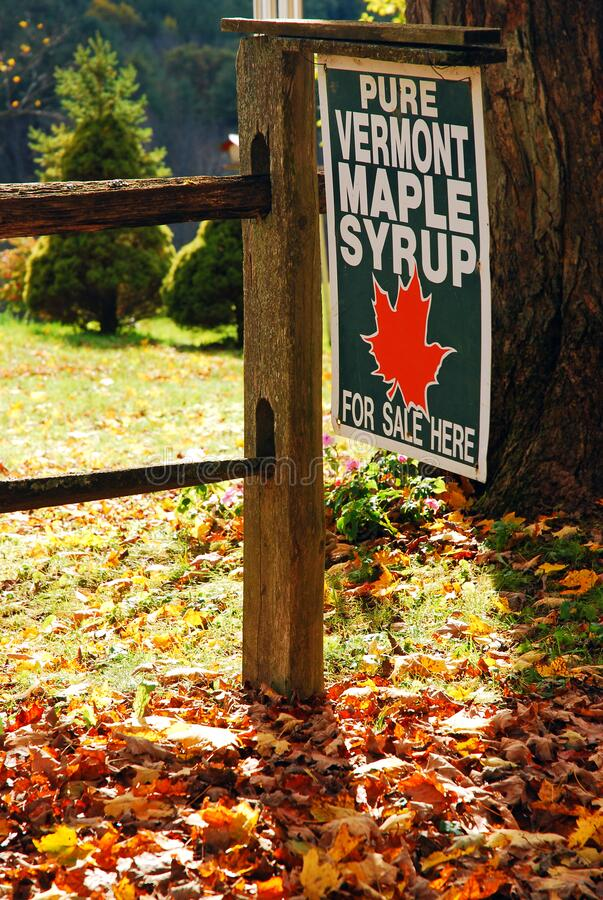Free Pure Vermont Maple Syrup Sold Here Royalty Free Stock Photos - 170424198