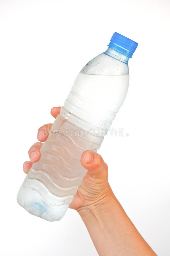 Download Pure water bottle in hand stock photo. Image of energy - 22477224