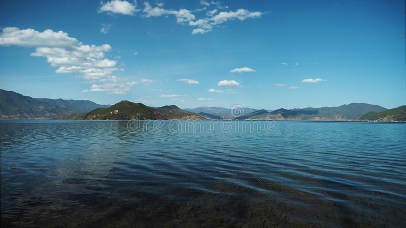 Pure wave of Lugu Lake royalty free stock images