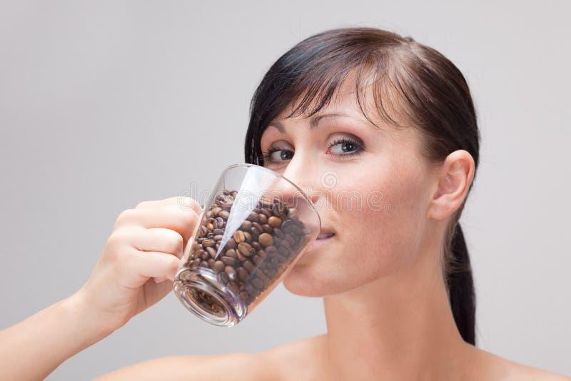 Download Pure weak coffe taste stock image. Image of break, brunette - 10997075