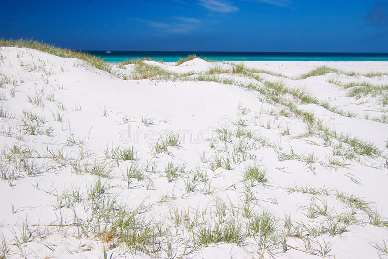 Download Pure white sand dunes stock photo. Image of holiday, landscape - 2643052