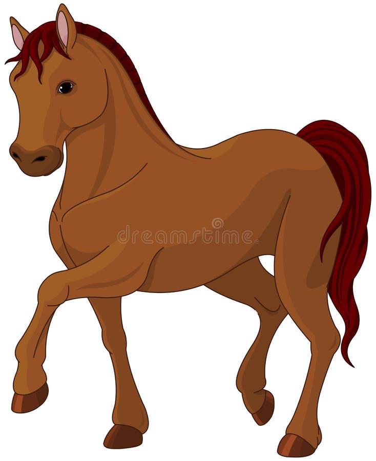 Purebred horse. Illustration of purebred chestnut horse