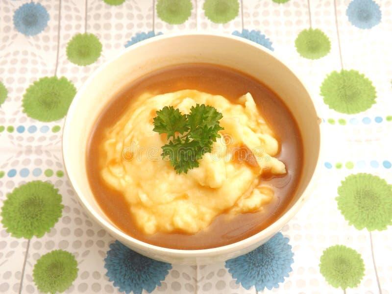 Puree van aardappels stock afbeeldingen