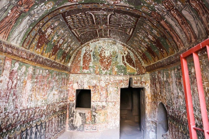 Purenli Seki Church in Ihlara-Tal, die Türkei lizenzfreie stockfotografie