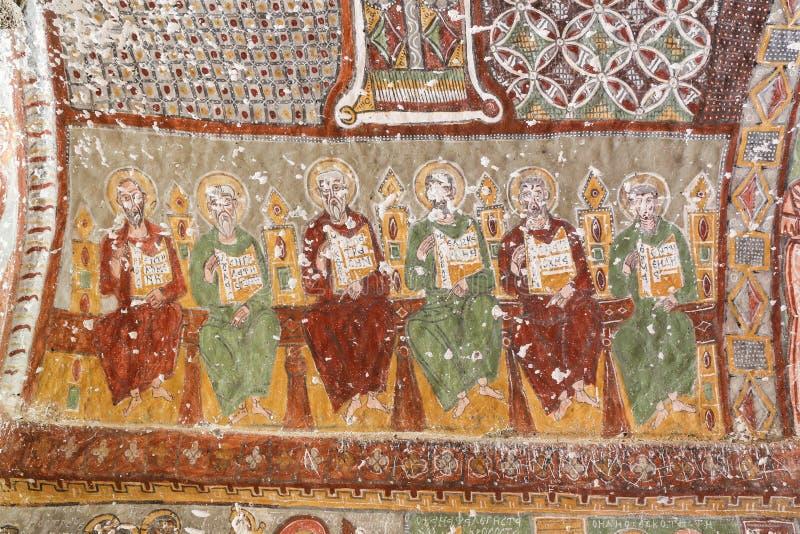 Purenli Seki Church in Ihlara-Tal, die Türkei stockbild