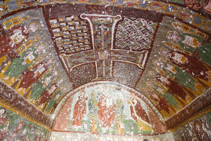 Purenli Seki Church in Ihlara-Tal, die Türkei lizenzfreies stockfoto