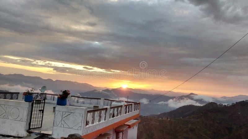 Pureté de coucher du soleil photographie stock libre de droits