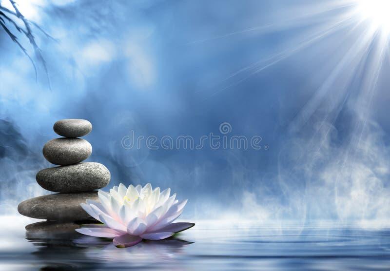 Pureté du massage de zen photographie stock libre de droits