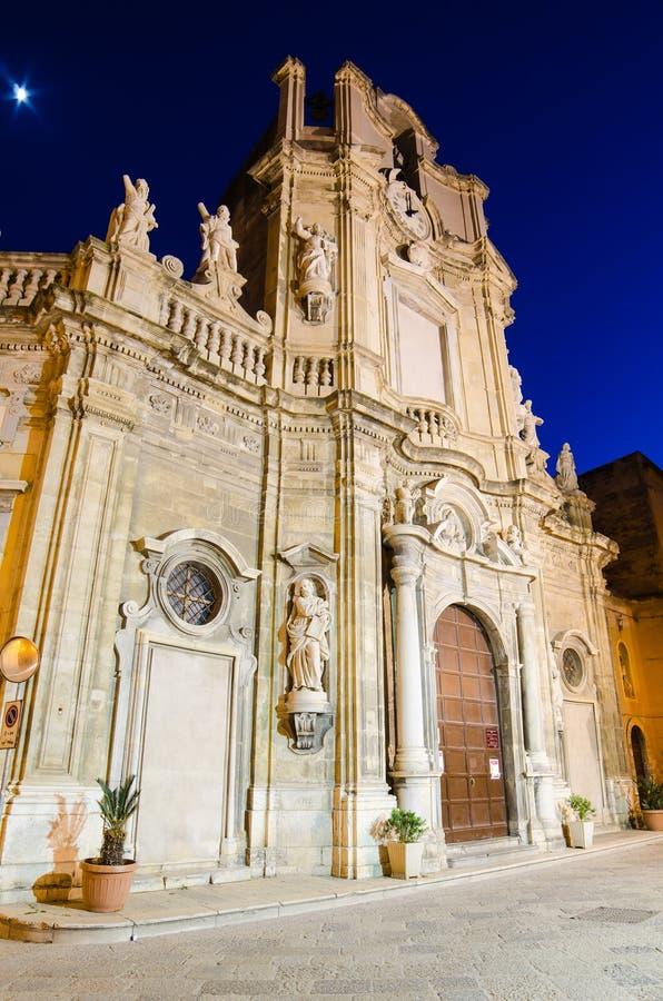 Purgatorio教会在特拉帕尼,西西里岛 库存图片