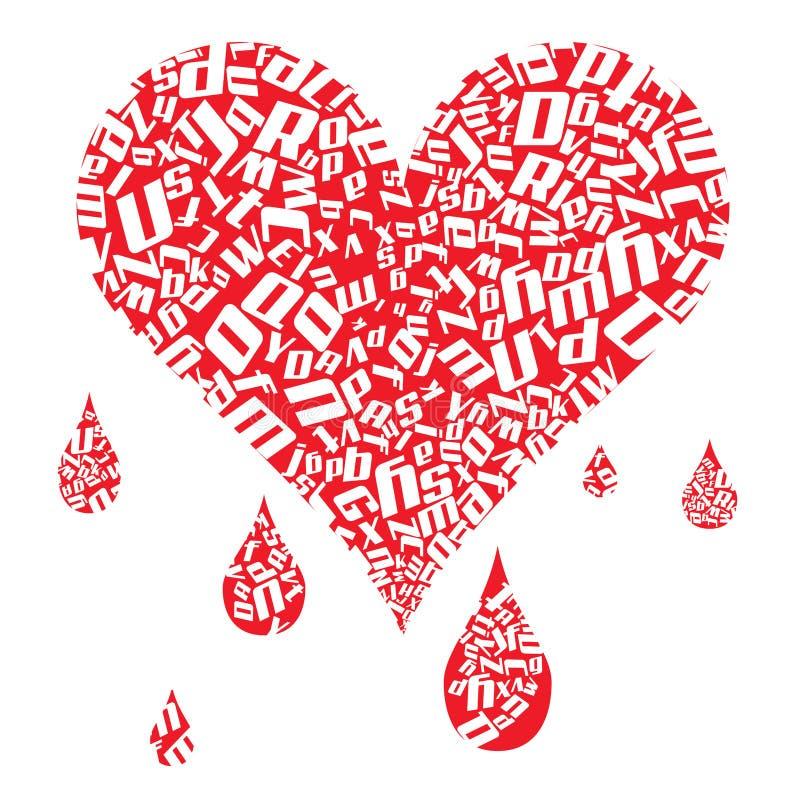 Purge de coeur illustration stock