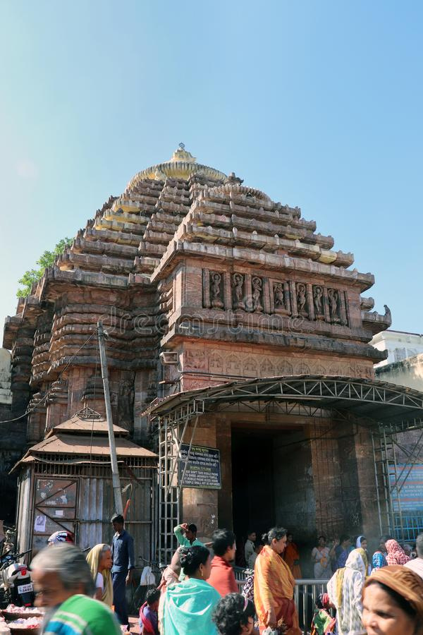 Puri i Odisha på 1st November, 2018: - Shree Jagannath tempel royaltyfri bild