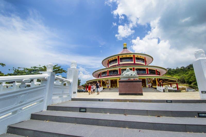 Puri Tri Agung Temple, bangka Insel indonesien stockbild