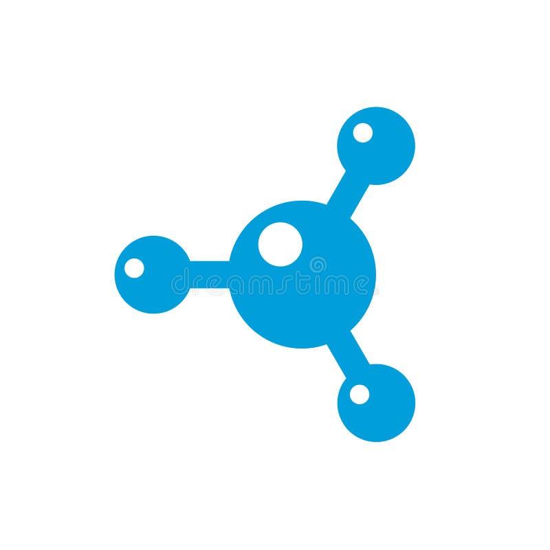 Purificación del agua, logotipo de la tecnología del eje aislado en el fondo blanco ilustración del vector