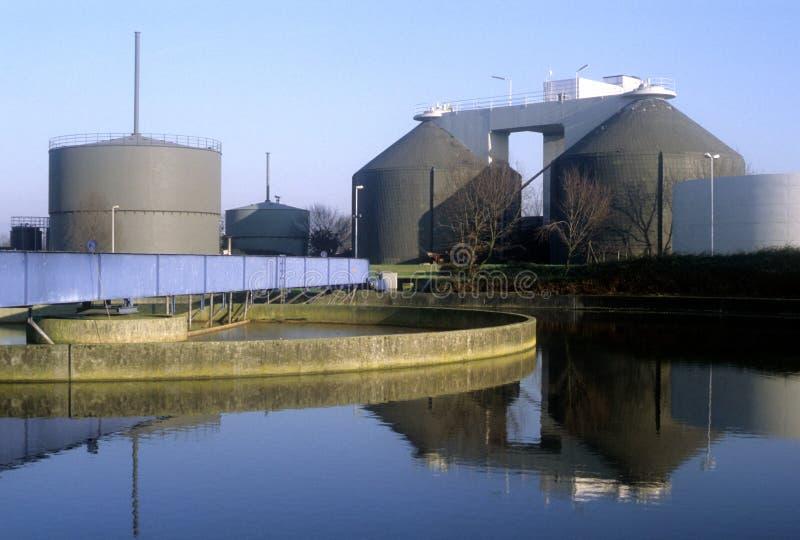 Purificador del agua de la fábrica en Alemania imágenes de archivo libres de regalías