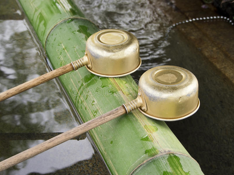 Download Purification Ladles At Shrine Stock Image - Image: 25232969