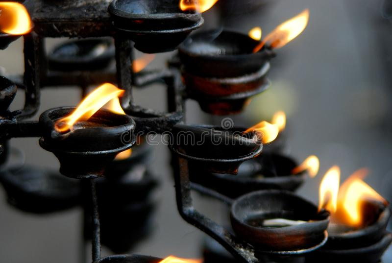 Purifier flames royalty free stock photography