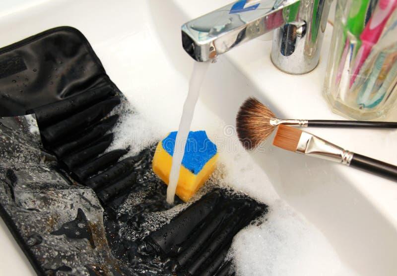 Purifying brushes case stock photo