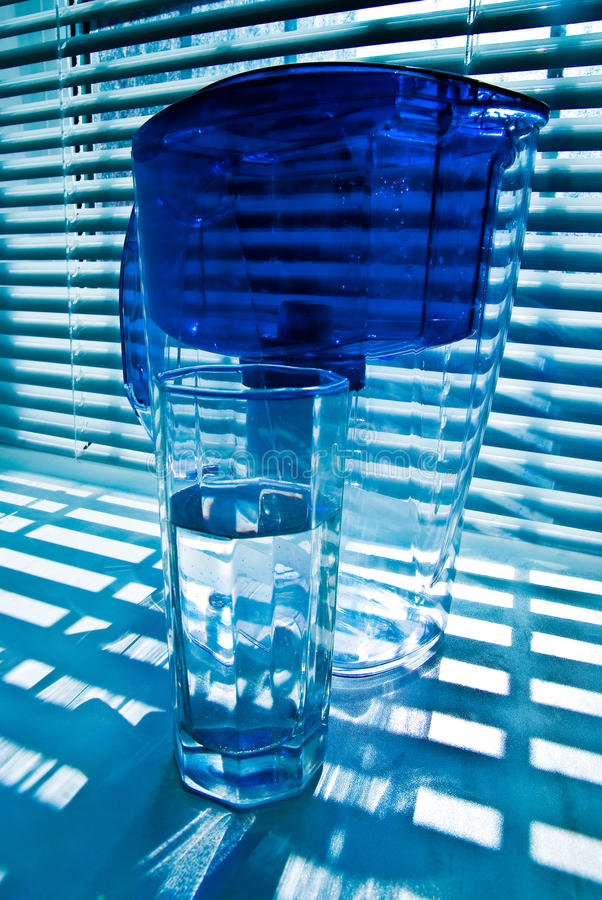 Purifying-filter and glass 2 stock photography
