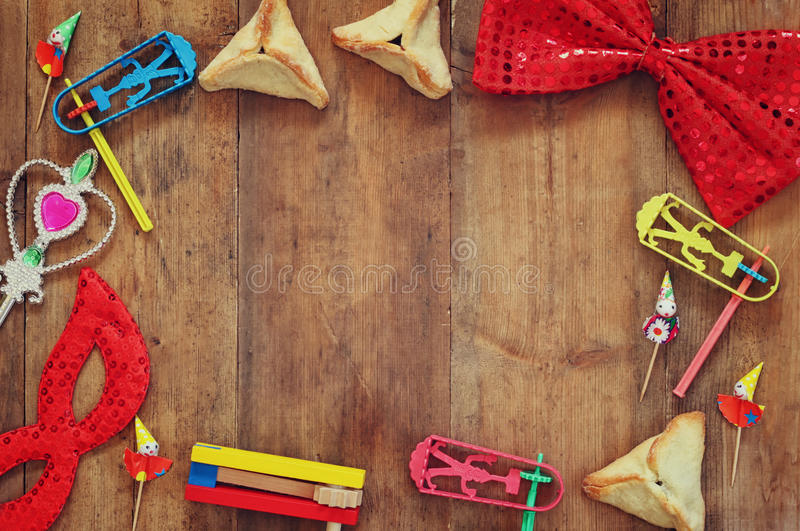 Purim celebration concept (jewish carnival holiday) . selective focus stock photos