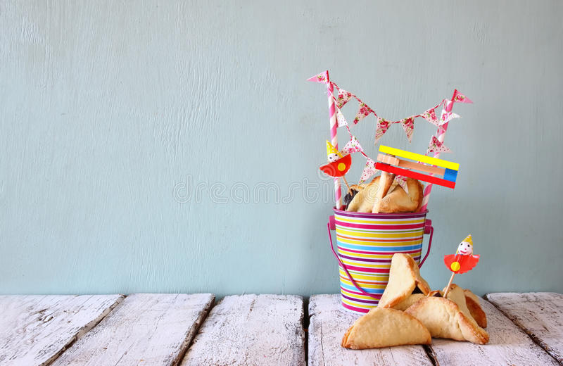 Purim celebration concept (jewish carnival holiday). selective focus.  royalty free stock images