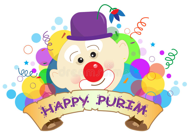Purim-Clown Banner stock abbildung