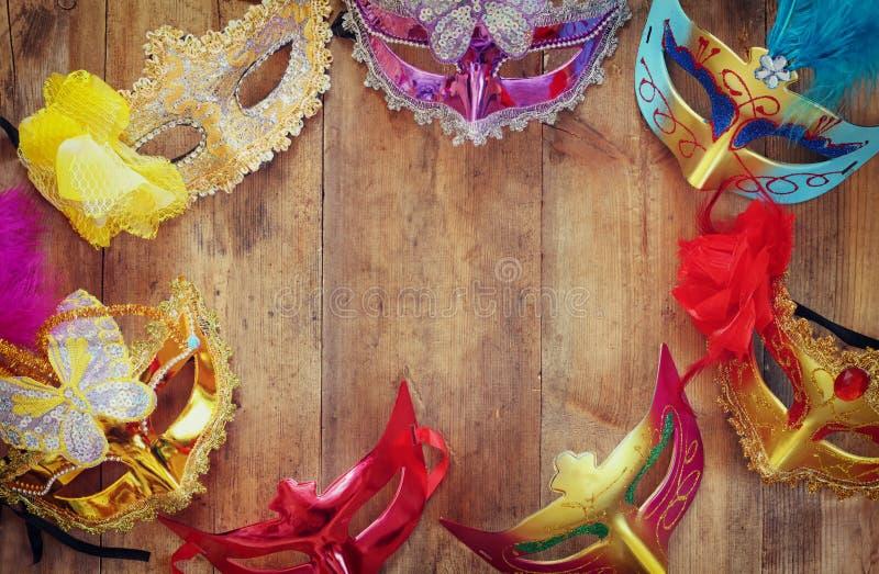Purim-Feierkonzept (jüdischer Karnevalsfeiertag) Selektiver Fokus stockfoto
