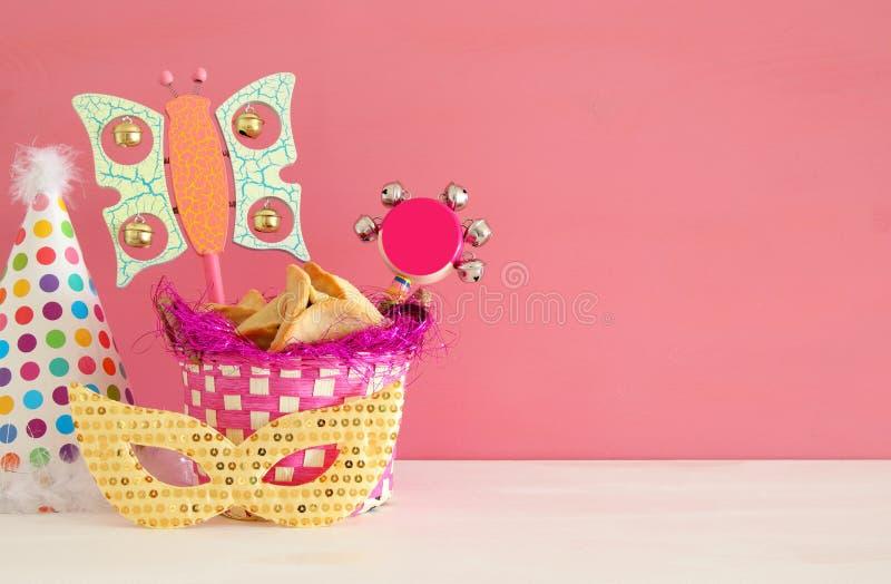 Purim-Feierkonzept u. x28; jüdisches Karneval holiday& x29; lizenzfreies stockbild