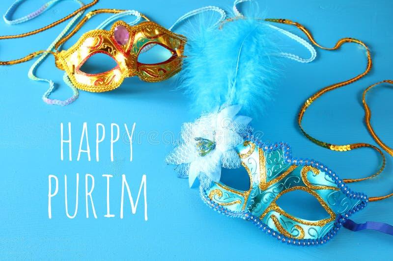 Purim-Feierkonzept u. x28; jüdisches Karneval holiday& x29; stockfoto