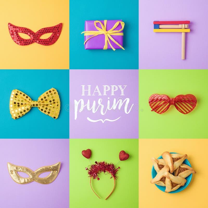Purim-Feiertagshintergrund lizenzfreies stockfoto
