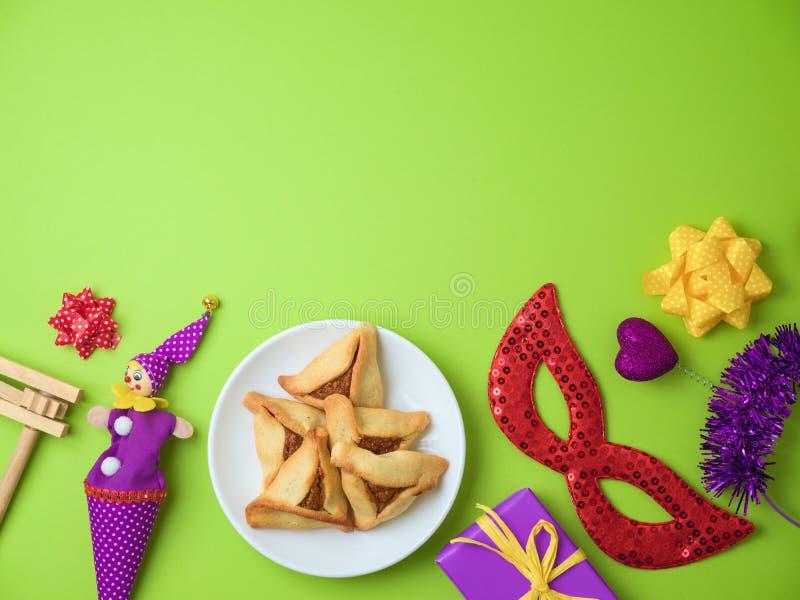 Purim holiday background royalty free stock image