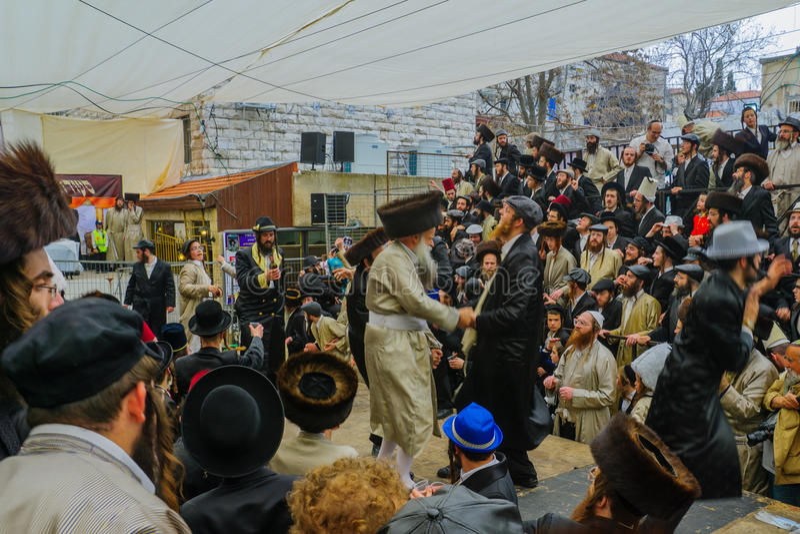 Purim 2016 in Jerusalem stockbilder