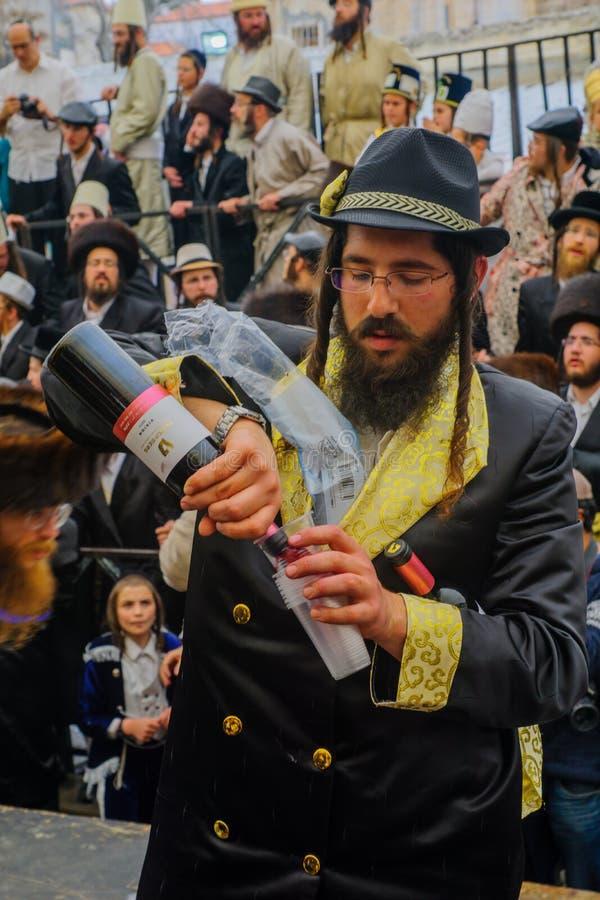 Purim 2016 no Jerusalém foto de stock